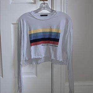 Brandy Melville cropped long sleeve shirt